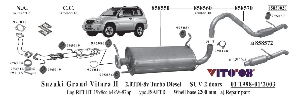 Suzuki Grand Vitara Muffler